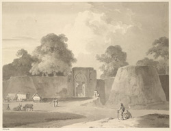 Gateway (probably the S.E) at Anupshahr fort (U.P.). 15 March 1789